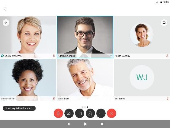 Screenshot Cisco WebEx