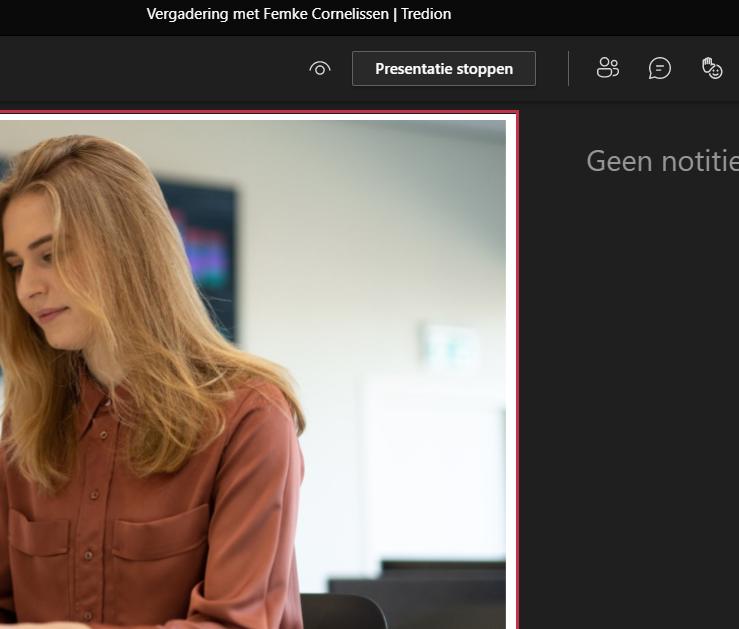 Screenshot PowerPoint Presenteren in Teams